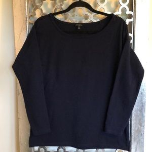 TALBOTS SIZE M Navy Blue long sleeve Top